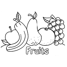 Coloring Pictures of Fruits With Apple
