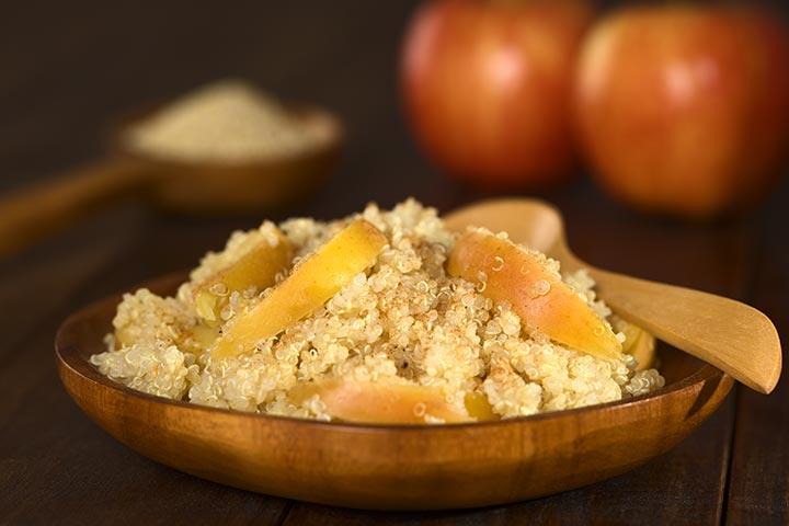 Apple quinoa bowl