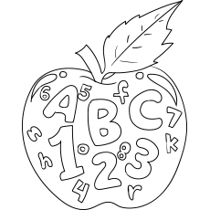 Apple with Numbers and Letters