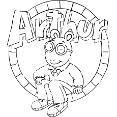 Printable Coloring Pages of Arthur Cartoon Movie for Kids