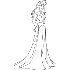 Aurora Princess coloring page