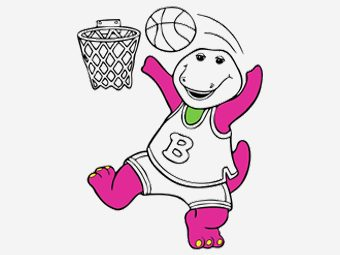 10 Cute Barney Coloring Pages For Your Little Ones
