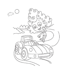 Bubble-Guppies-Car coloring pages