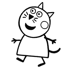 Candy Cat Peppa Pig Character Baby Alexander Coloring Pages Free Printable Chloe Name
