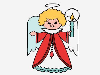 10 Cheerful Angel Coloring Pages For Your Toddler