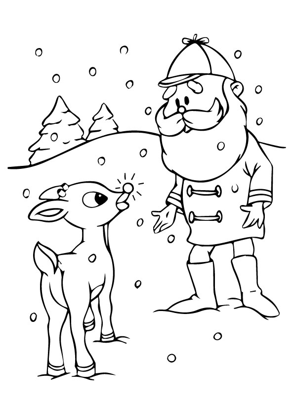 Christmas-Reindeer-Coloring-Pages