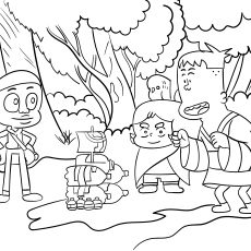 Craig of the Creek Cartoon Coloring Pages