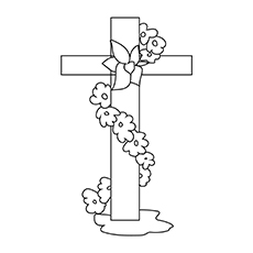Top 10 free printable cross coloring pages online cross with flowers 17 ccuart Gallery