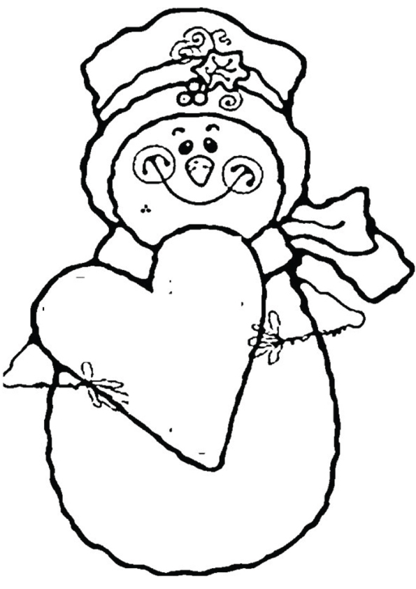 Cute-Snowman-coloring-pages