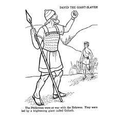 David the Giant Slayer Coloring Pages