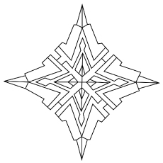 Diamond Geometric Shape Coloring pages