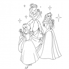 disney princess coloring pages - Princess Color Pages
