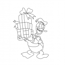 duck gift disney christmas coloring images