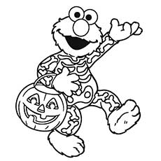 elmo halloween - Coloring Pages Of Halloween