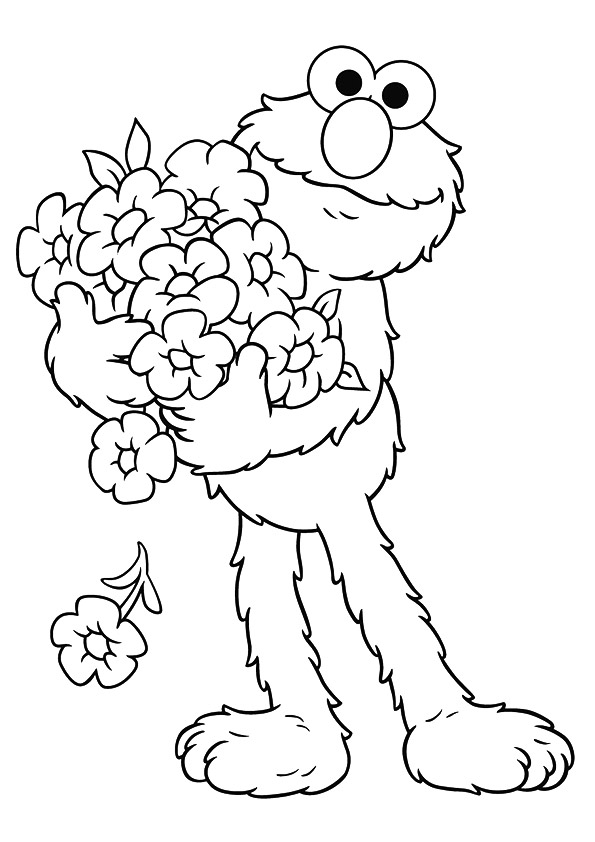 Elmo-holding-flowers
