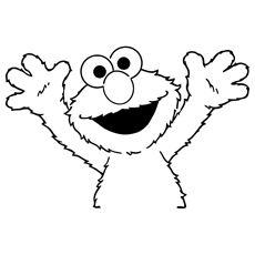 Elmo Is Happy Coloring Pages