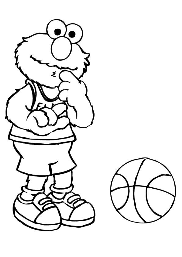 Elmo-playing-busketball