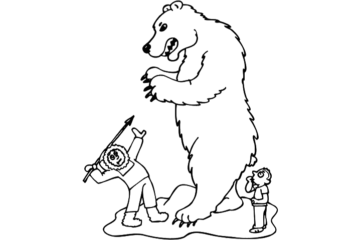 bear hunt coloring pages - photo#18