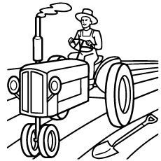 free tractor coloring sheets