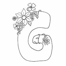 G Coloring Pages Flower