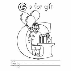 G Coloring Pages Gift