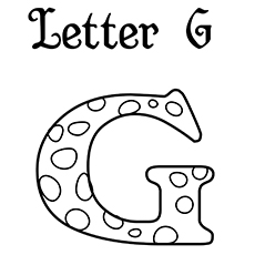 G Coloring Pages Letter 16