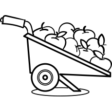 Garden Wheelbarrow with Apples