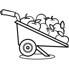 Garden Wheelbarrow with Apples