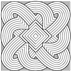 geometric coloring pages for adults - Geometric Coloring Pages