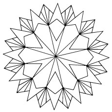 geometric star - Design Coloring Pages
