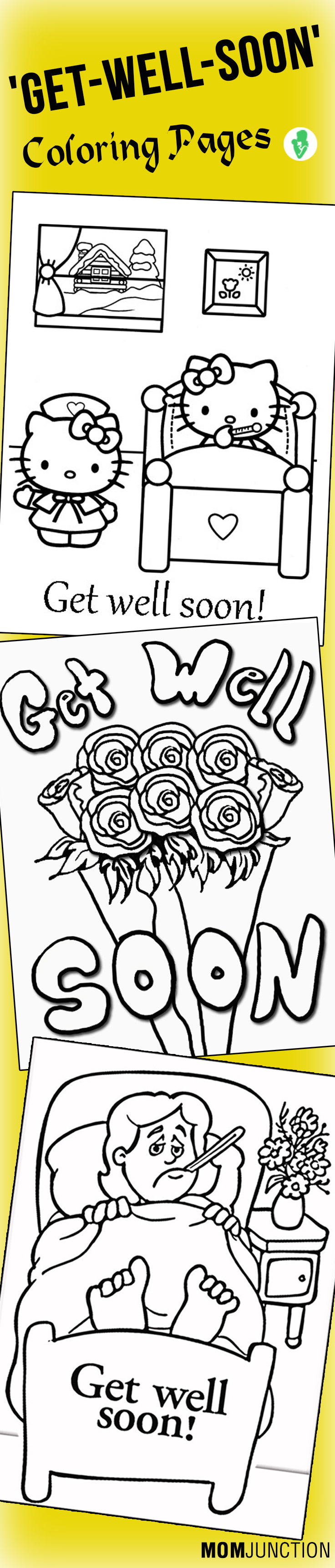 Coloring pages get well soon