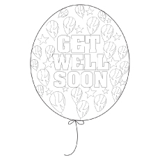 Get well Baloons coloring pages