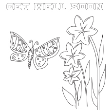 Get well soon fly coloring pages