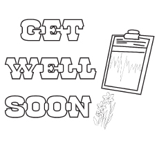 Get well soon with pad coloring pages