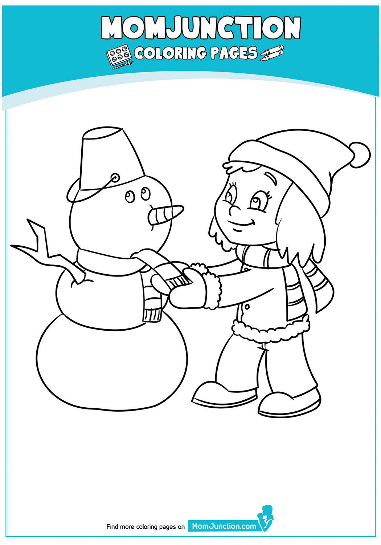 Girl-making-snowman