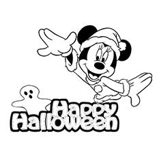 Halloween Coloring Pages Minnie Mouse