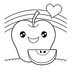 happy apple coloring pages printables - Apples Coloring Pages