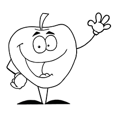 I Am an Apple free Printable Coloring Pages