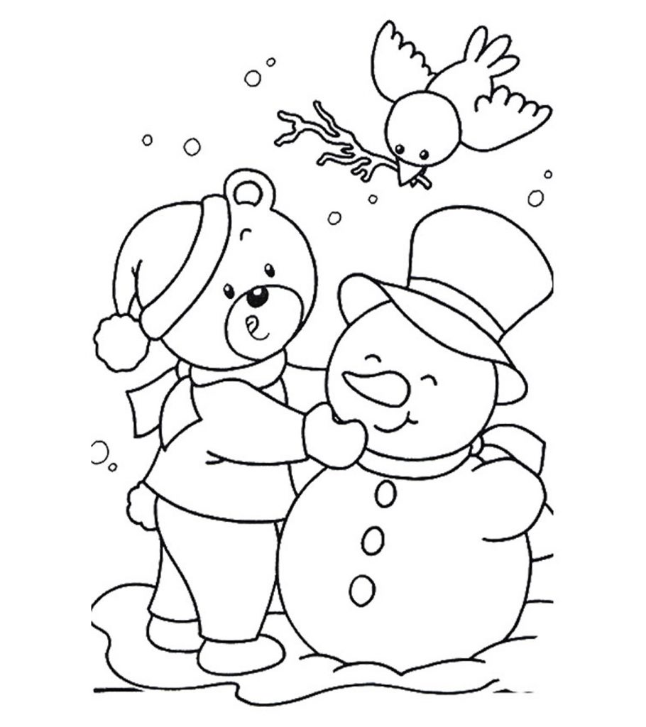 Free Printable January Coloring Pages for Kids Online