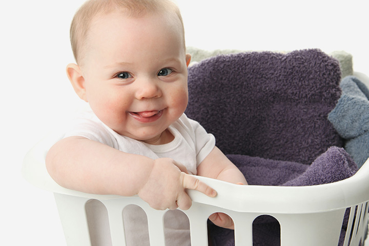 ... 15-Month Old Baby. 1. Laundry Basket Fun