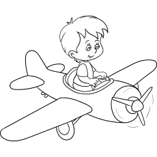 Little Boy Flying Toy Plane