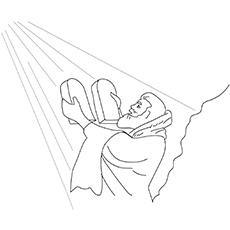 Moses-And-Tablets-16 coloring pages