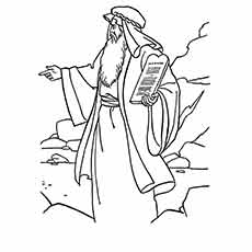 Moses Came Down from Mount Sinai Coloring Page