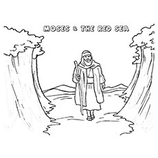 Free printbale Coloring Pages of Moses and The Red-sea