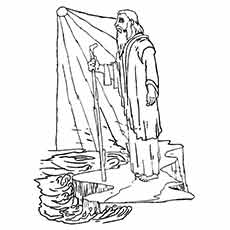 Moses and the Sun Rise Coloring pages