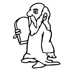 Moses with Law In His Hand Coloring Pages