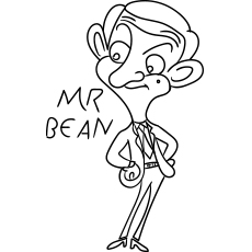 Mr Bean Cartoon Coloring Images