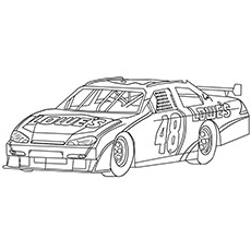 nascar speed 48 car - Nascar Coloring Pages