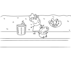 Peppa Pig and Her Friends Coloring Pages | Peppa pig coloring ... | 230x230