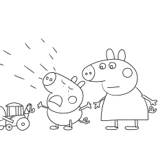 Peppa Pig Crying print coloring images